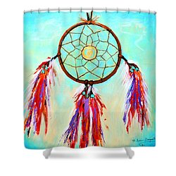 Sweet Dream Catcher Shower Curtain by M Diane Bonaparte