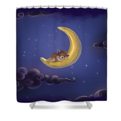 Shower Curtain featuring the drawing Sweet Dreams by Julia Art