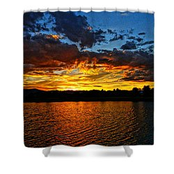 Sweet End Of Day Shower Curtain by Eric Dee