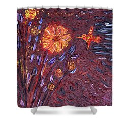 Sweet Flower Shower Curtain by Vadim Levin