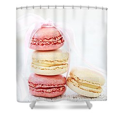 Sweet French Macarons Shower Curtain