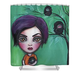 Sweet Girl Shower Curtain by Abril Andrade Griffith