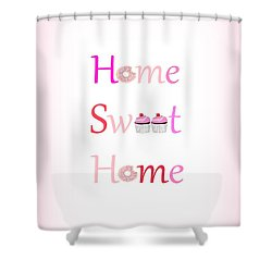 Sweet Home - Typography Shower Curtain