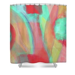 Shower Curtain featuring the digital art Sweet Little Abstract by Susan Stone