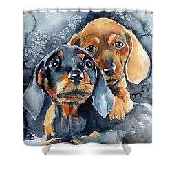 Sweet Little Dogs Shower Curtain
