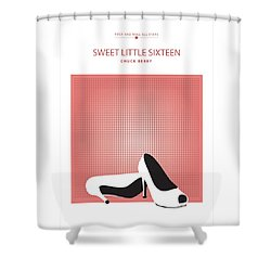 Sweet Little Sixteen -- Chuck Berry Shower Curtain