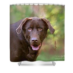 Sweet Molly Brown Shower Curtain