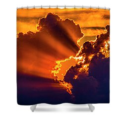 Sweet Nebraska Crepuscular Rays 010 Shower Curtain