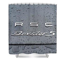 Rain Drops On A Porsche Boxster S Shower Curtain