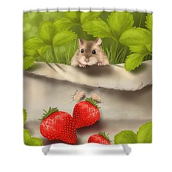 Sweet Surprise Shower Curtain by Veronica Minozzi