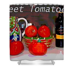 Sweet Tomatoes Shower Curtain by Charles Shoup