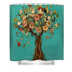 Sweet Tree Shower Curtain by Carrie Joy Byrnes