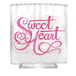 Shower Curtain featuring the drawing Sweetheart by Cindy Garber Iverson
