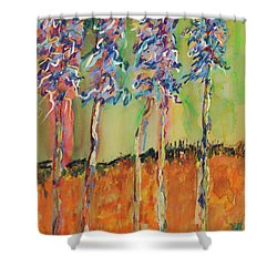 Sweetheart Hill Shower Curtain by Pat Saunders-White