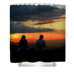Shower Curtain featuring the photograph Sweetheart Sunset by Jessica Brawley