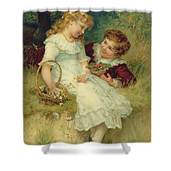 Sweethearts Shower Curtain by Frederick Morgan