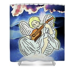 Shower Curtain featuring the digital art Sweetly Singing by John Haldane