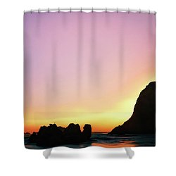 Swept Away Beach Image Art Shower Curtain