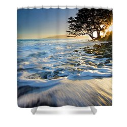 Swept Out To Sea Shower Curtain by Mike  Dawson