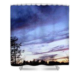 Swept Sky Shower Curtain