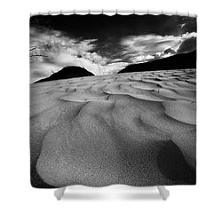 Swerves And Curves In Jasper Shower Curtain by Dan Jurak