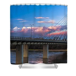 Swietokrzyski Bridge In Warsaw Shower Curtain