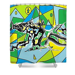 Swift Shower Curtain by AR Teeter