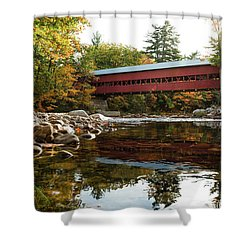 Swift River Covered Bridge Shower Curtain