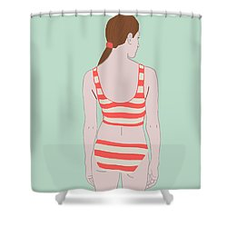 Swim Shower Curtain by Nicole Wilson