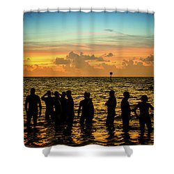 Swimmers Sunrise Shower Curtain