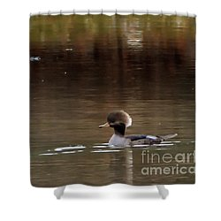Swimming Alone Shower Curtain by Tamera James
