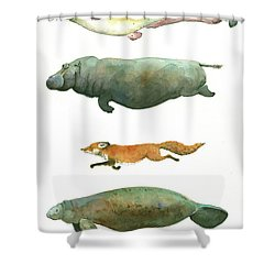 Swimming Animals Shower Curtain
