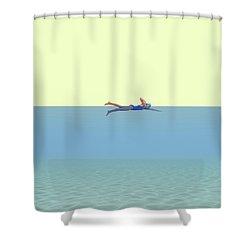 Swimming Girl Shower Curtain