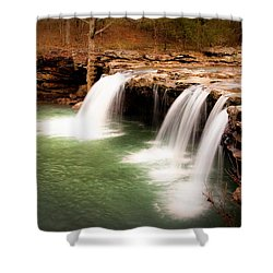 Swimming Hole Shower Curtain by Tamyra Ayles