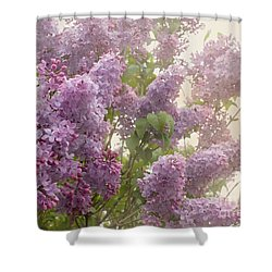Swimming In A Sea Of Lilacs Shower Curtain