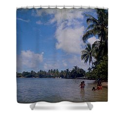 Swimming In Moorea Shower Curtain