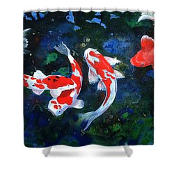 Swimming In Peace Shower Curtain