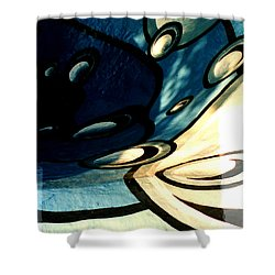 Swimming Pool Mural Detail 2 Shower Curtain by Rachel Christine Nowicki