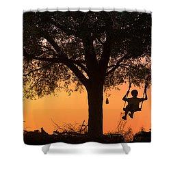 Swing Shower Curtain by Marji Lang