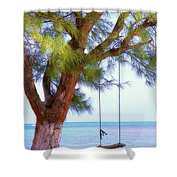 Swing Me... Shower Curtain by Karen Wiles