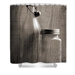Jar And Bottle  Shower Curtain by Sandra Church