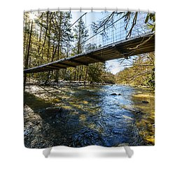 Swinging Bridge Back Fork Of Elk Shower Curtain