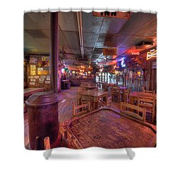 Swinging Doors At The Dixie Chicken Shower Curtain by David Morefield