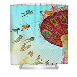 Shower Curtain featuring the photograph Swings by Cindy Garber Iverson