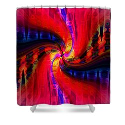 Swirl Delight Shower Curtain by Cherie Duran
