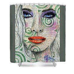 Swirl Girl Shower Curtain