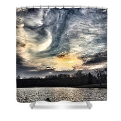 Swirl Sky Sunset Shower Curtain