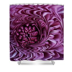 Shower Curtain featuring the photograph Purple Mum Abstract by Glenn Gordon