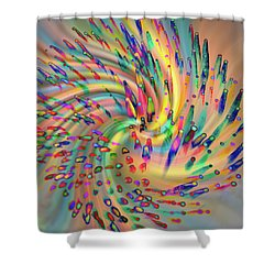 Swirligigs Shower Curtain by Cathy Donohoue