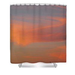 Swirling Clouds In Evening Shower Curtain